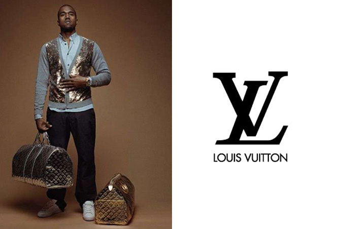 Kanye West a Louis Vuitton reklámarca