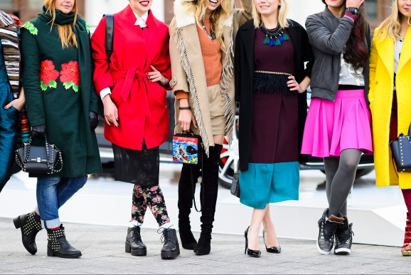 Street style on Mercedes-Benz Fashion Week Russia, 2014